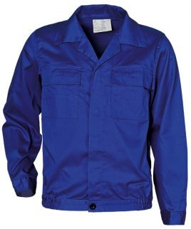 Работно яке / куртка 100% памук в кралско синьо
