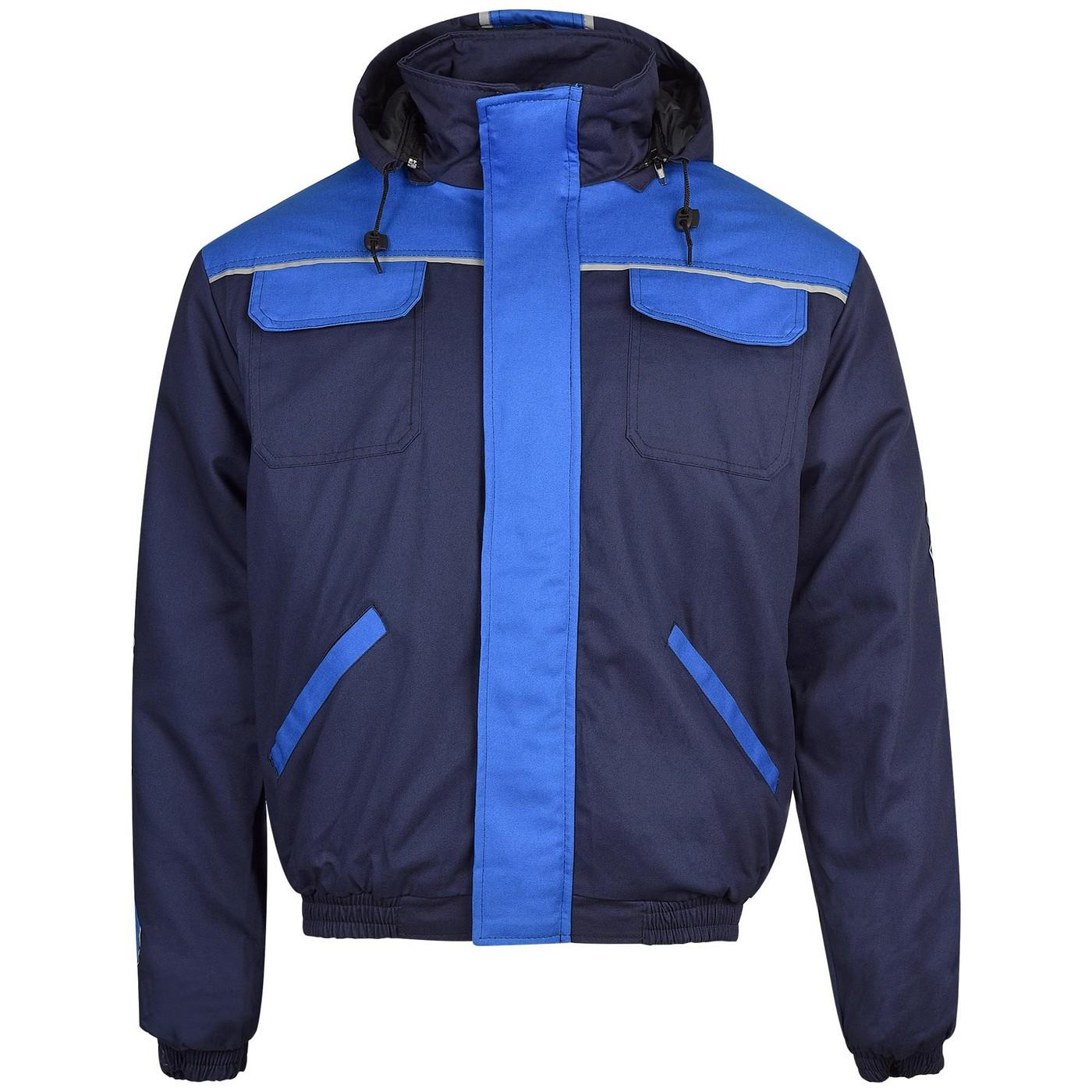 Зимно работно яке - 100% памук синьо
