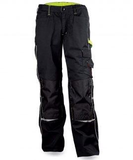 Черен работен панталон със сигнални шевове