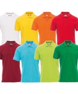Памучна тениска с яка различни цветове
