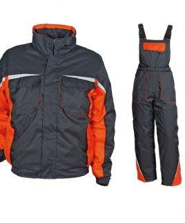 Зимен ватиран работен комплект - гащеризон и яке