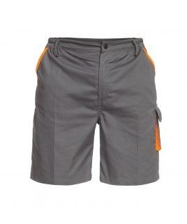 Работни къси панталони SIGMA с оранжева гарнитура.