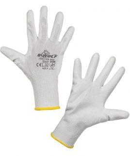 Плетени ръкавици PENGUIN WHITE от полиестерно трико.