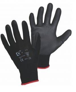 Ръкавици BRITA BLACK ECO от ластично трико, потопени в полиуретан
