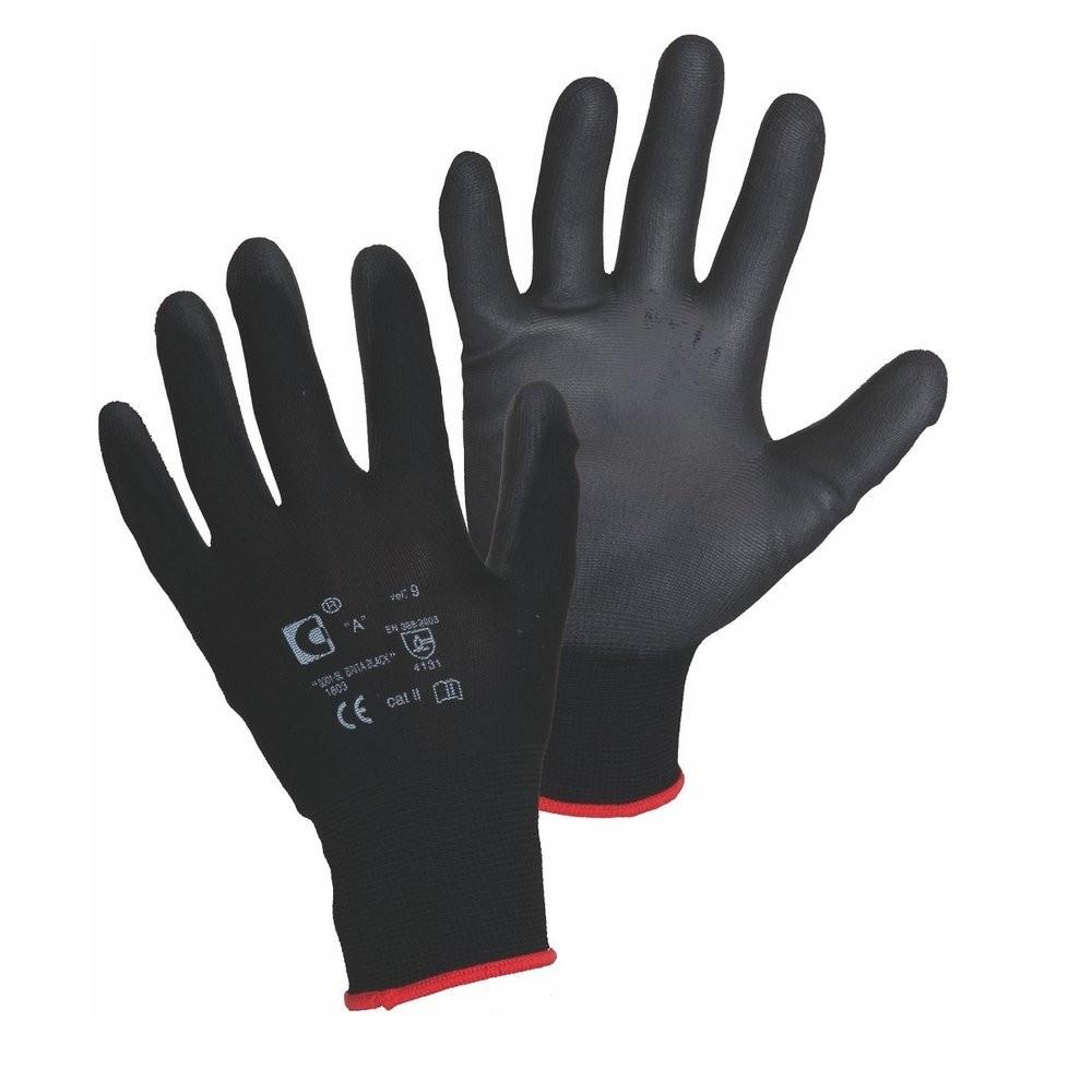 Ръкавици BRITA BLACK от ластично трико, потопени в полиуретан