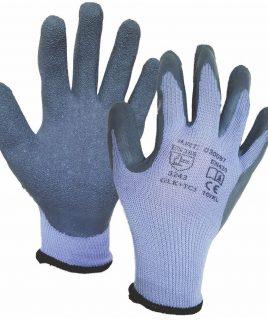 Ръкавици от трико, потопени в латекс.