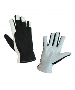 Работни ръкавици с кожа и плат
