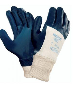 Ръкавици от памучно трико, 3/4 потопени в нитрил, с ластичен маншет