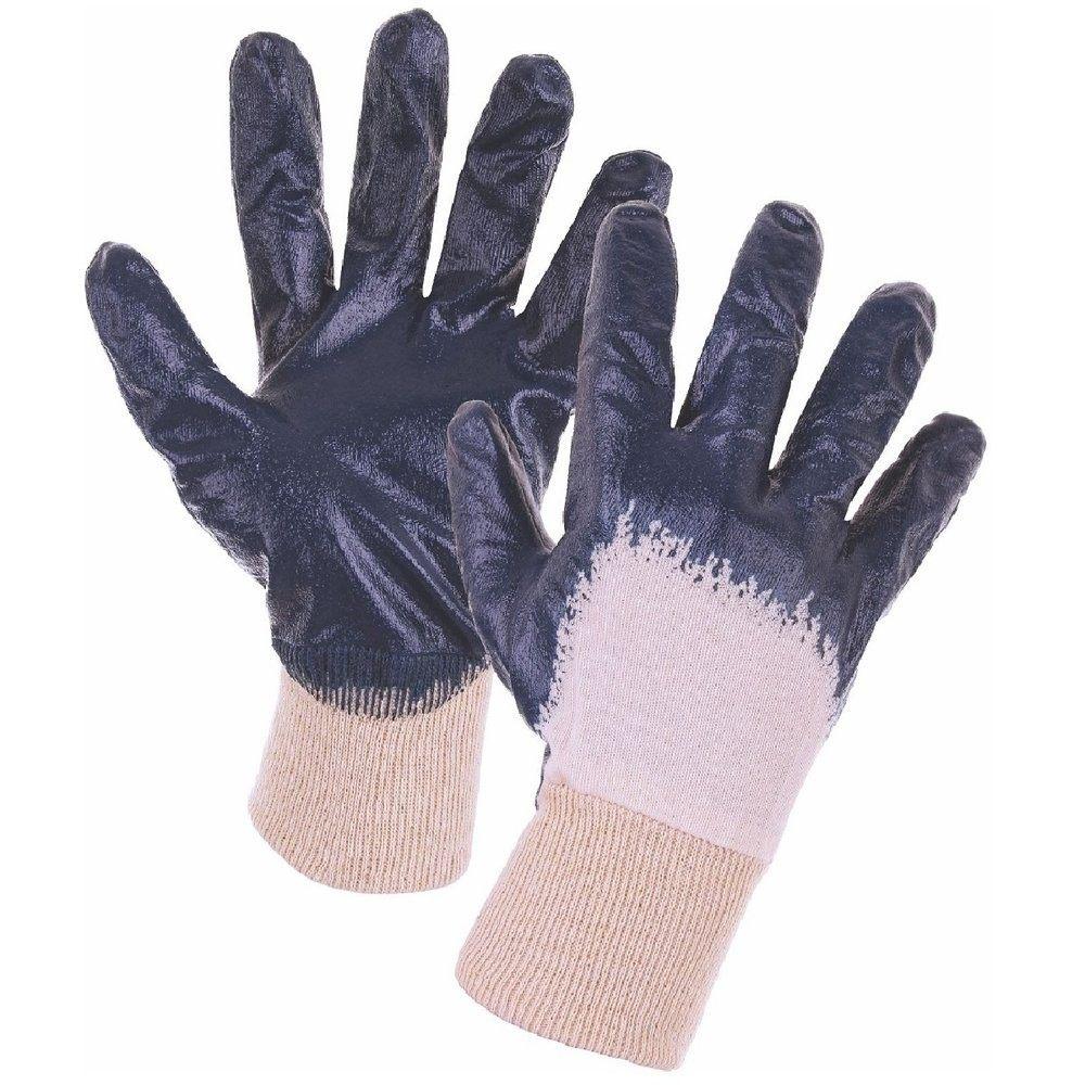 Ръкавици от памучно трико, 3/4 потопени в нитрил
