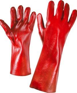 Ръкавици изработени от памучно трико изцяло топени в PVC