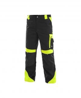 Работен панталон, лукс, черно и сигнално жълто.Висок клас работен панталон.