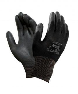 Ръкавици SENSILITE BLACK 48-101 от ластично трико, потопени в полиуретан