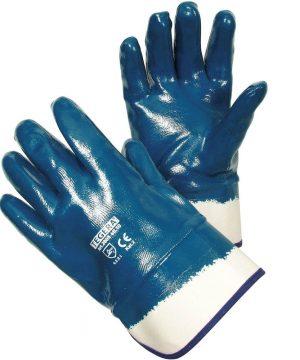 Работни ръкавици топени в нитрил.