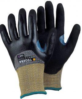 Противосрезни ръкавици ниво 5, 3/4 потопени в нитрилова пяна