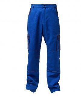 Работен панталон в кралско син цвят и светлоотразителни паспели