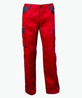 Червен памучен Работен панталон