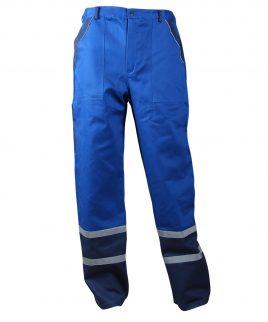 Работен панталон със светлоотразителни ленти на крачолите в синьо