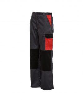 Работен панталон в три цвята с джобове и цип