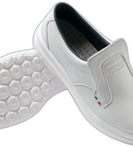 Работни обувки с бомбе бял цвят